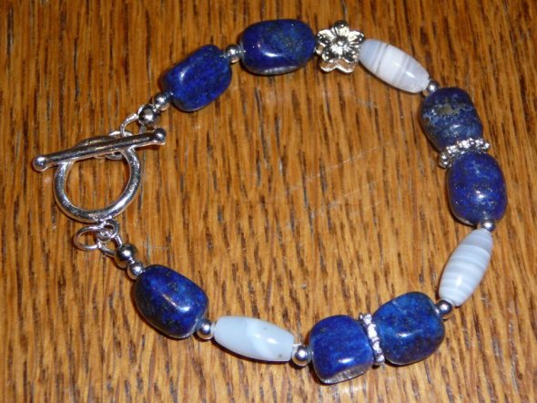 Carol - lapis lazuli, botswana agate