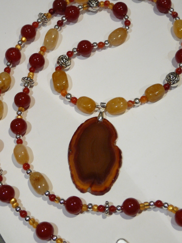 Dec 16 agate, carnelian, yellow jade