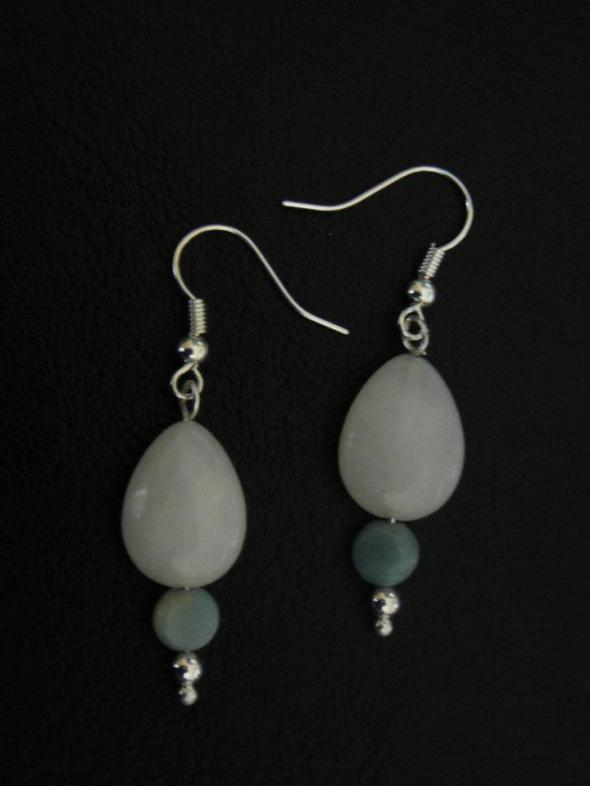 White jade and amazonite