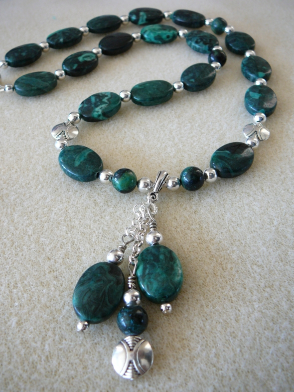 Malachite jasper necklace  20.5