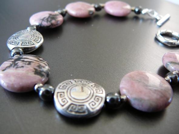 Pink rhodonite bracelet  $25
